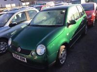 """2001 X reg Volkswagen Lupo 1.4 """" Door Dragon Green Metallic"""