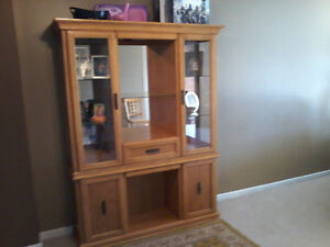 Beautiful solid oak with mirrors London Ontario image 1