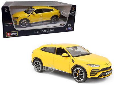 Lamborghini Urus Yellow 1 18 Diecast Model Car By Bburago 11042