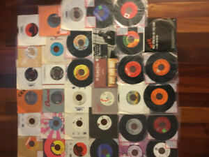 Lot of 45 rpm records various genres. 34 records in total