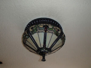 Vintage Flush Mount Tiffany Ceiling Lights - 2 available