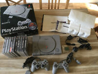 Sony PlayStation 1 Boxed With 10 Games Etc