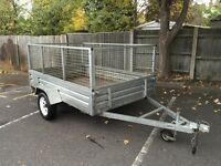 Large caged trailer for sale (8' x 5')