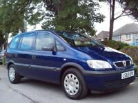 VAUXHALL ZAFIRA 1.6i 2003 7 SEATER 76000 MILES COMPLETE WITH M.O.T HPI CLEAR