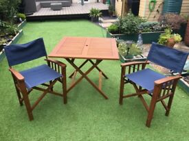Folding Garden Table With 2 Chairs