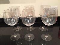6 large wine glasses