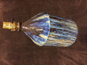 Blue lamp base only. Ceramic.