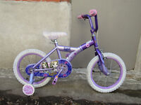 GIRL'S BIKE FOR XMAS / 2/3'S  LESS THAN NEW