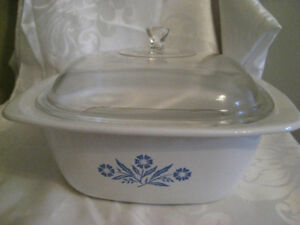 Corning Ware Blue Cornflower 16 Cup Roaster & Cover & Grate