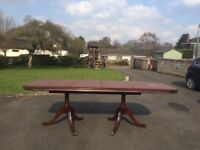 Large Extendable Mahogany Dining Table - Offers considered