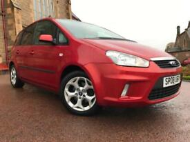 *12 MTHS WARRANTY*2008(08)FORD C-MAX 1.6 ZETEC 5DR WITH ONLY 58K VERY CLEAN CAR*