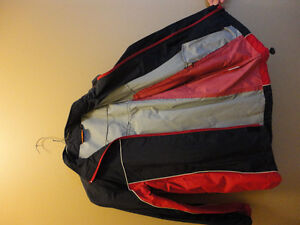 Kid's unisex navy blue/red jacket with hoodie Size Large NEW London Ontario image 3