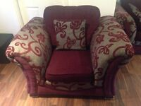 Sofa bed arm chair and footstool