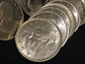 BUYING CANADIAN SILVER DOLLARS PRE-1968 CASH $$$