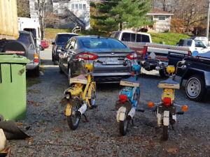 3 Honda Express Mopeds