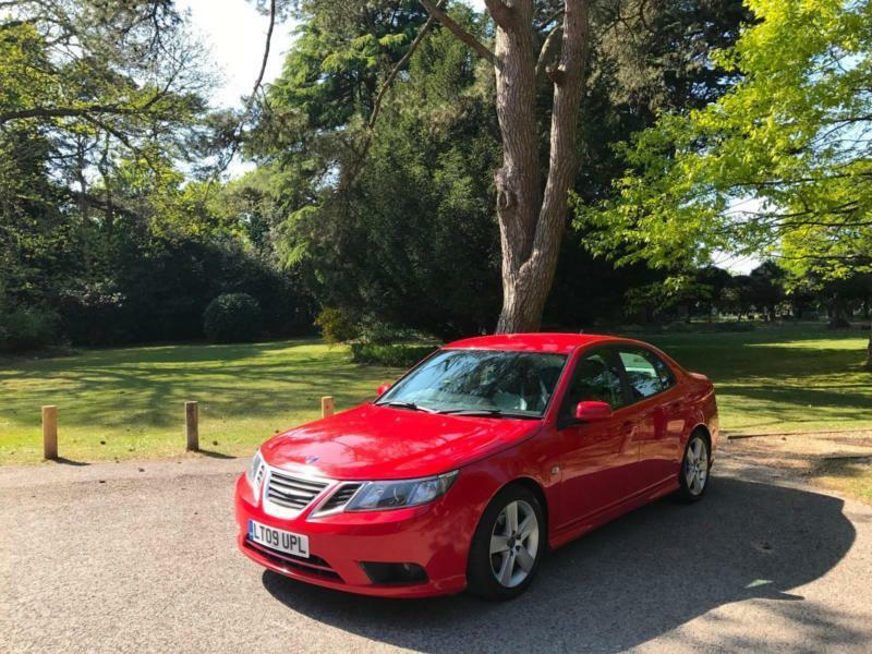 2009 Saab 9-3 1.9TTiD ( 180ps ) Vector Sport 4 Door Saloon Red