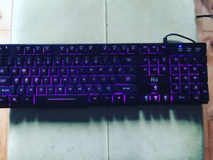 Brand new gaming keyboard- Rii 3LED lights (blue/red/purple)