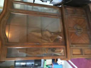 China cabinet, Dining Table and chairs