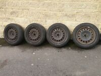 "15"" Steel Wheels x4 with Tyres"