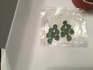 Kate Spade Earrings Green Chandelier New gift box