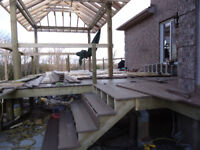 Special deck starting at $3000 for floating deck 10x10