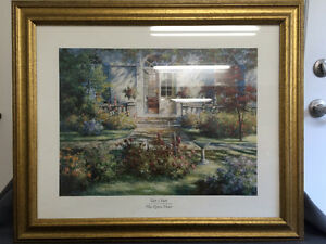 "Collectible Antique ""The Open Door"" Framed Print By Tan Chun London Ontario image 1"