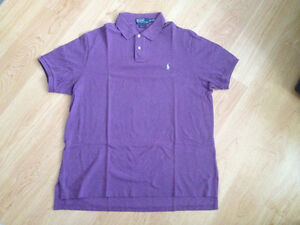 Men's Polo Ralph Lauren Purple Shirt -custom fit-XXL - pre-owned