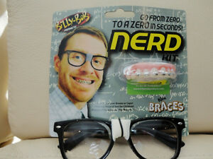 Billy Bob Nerd Kit (Teeth, Glasses) - Brand New -Halloween Idea
