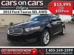 2013 Ford Taurus SEL AWD w/Leather, Sunroof, Backup Cam, Navi $1