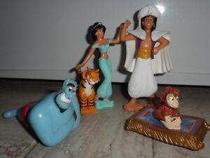 5 Figurines Disney  du film 'Aladdin'
