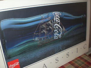 Coca-Cola Classic   Ship in a Bottle   Poster Kawartha Lakes Peterborough Area image 2