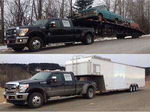 Enclosed and open car / auto transport / car hauling