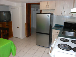Furnished 2 bedrooms Bsmt Apartment at Dufferin-RogersRd Central