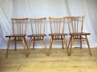 4 x Ercol 391 dining chairs vintage mid century retro