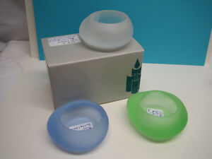 PartyLite - Sea Glass Tealight Holders (set of 3)