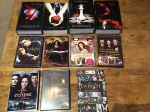Twilight DVDs And novels