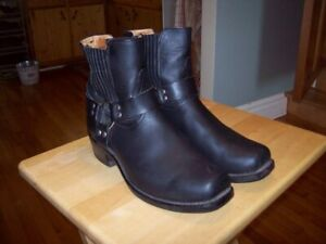 one pair of motorcycle boots and helmet