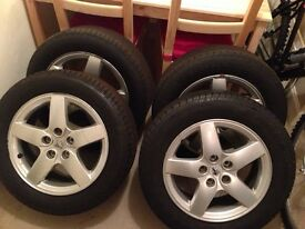 """Set of 4 x 16"""" Peugeot rims and tyres"""