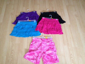 Girls size 14 / 16 summer shorts skirts lot N
