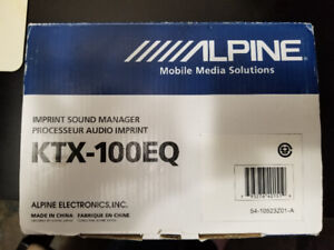 Alpine KTX-100EQ  IMPRINT Sound Manager
