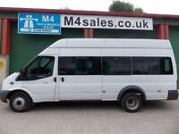 Ford Transit 135ps,17st Hitop minibus,tacho,PSV ready.