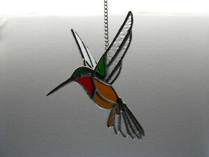 3D Stained Glass Hummingbird