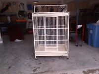 Large Parrot cage 3' X 3' X 5' with upper perch area