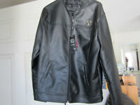 MANS LARGE LEATHER ITALIAN JACKET{made in milan}
