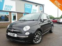2011 Fiat 500 0.9 TwinAir 85bhp s/s LOUNGE BLACK STUNNING ONLY 50K