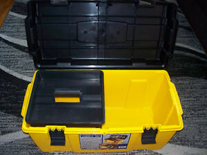 Strong n' tuff integrated plastics XL(27in) tool chest with tray