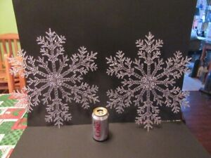 SNOWFLAKE DECORATIONS - 10 pieces for $5.00