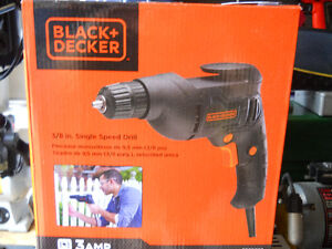 Drill by Black and Decker  3/8 Brand New