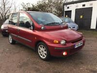 2004 Fiat Multipla 1.6 ELX 6 Seater Long Mot 2 Keys Part Service History