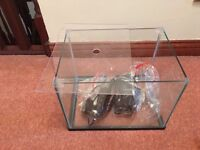 Small fish tank for sale with heater and filter